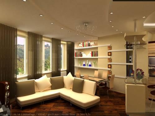Дизайн студии интерьер квартир