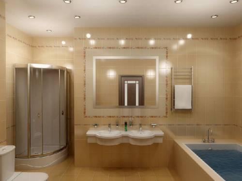 дизайн ванной комнаты эконом класса