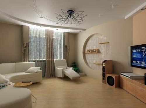 Дизайн совмещенной спальни и гостиной