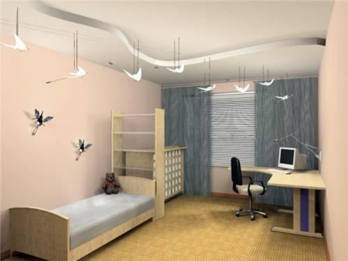 В розовом цветей интерьер комнаты в