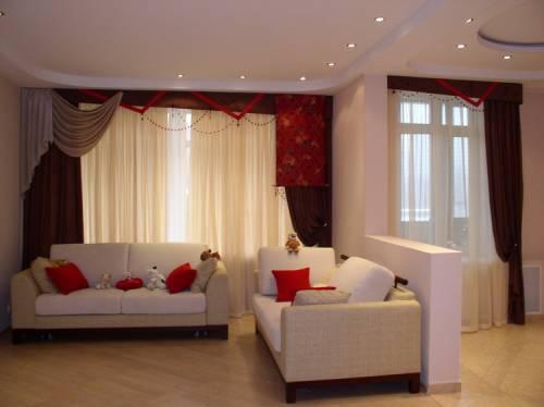 Дизайн штор для гостинной фото