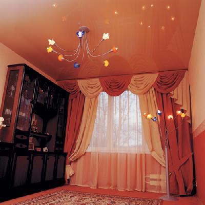 Фото интерьера с натяжными потолками