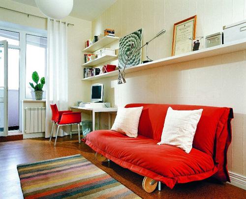 Интерьер для комнаты длинной и узкой