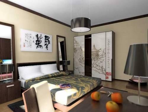 Интерьер спальни 12 м