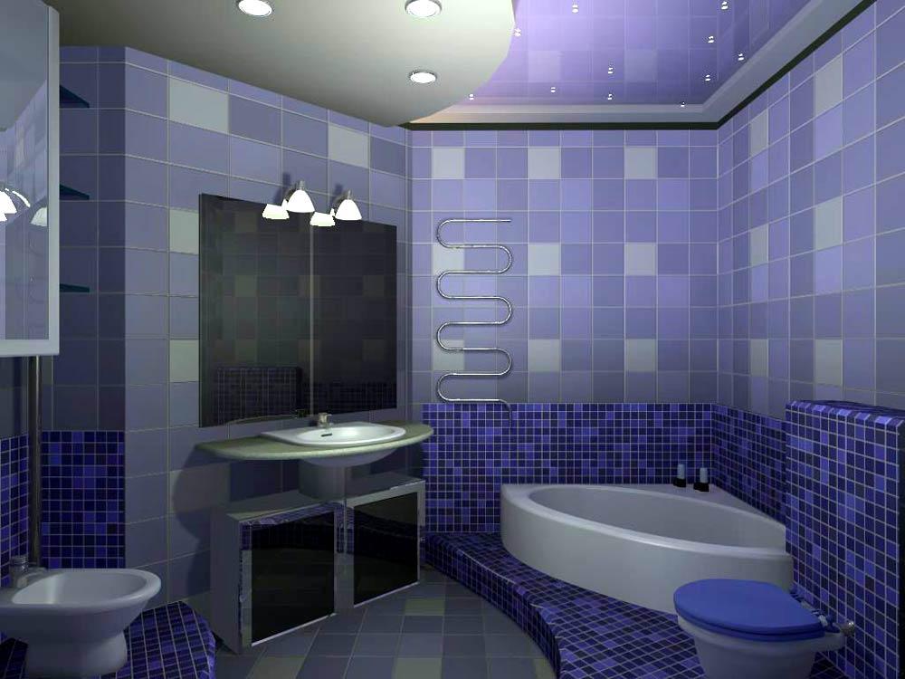 Интерьер маленькой ванной-фото
